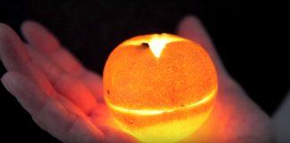 Μεταμορφώστε τα μανταρίνια σε κεριά