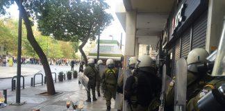 Ένταση στην απεργειακή συγκέντρωση στο Κέντρο της Αθήνας