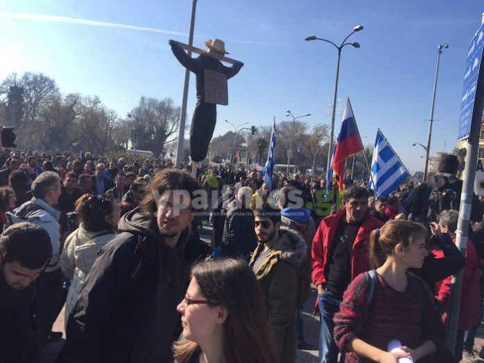 Μεγαλειώδες συλλαλητήριο στη Θεσσαλονίκη (φωτο&βιντεο)