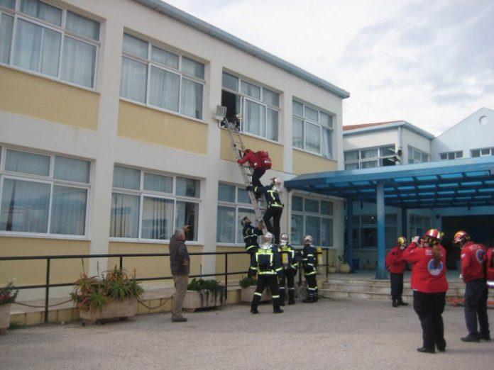 Άσκηση αντισεισμικής προστασίας στο Λύκειο Κρανιδίου