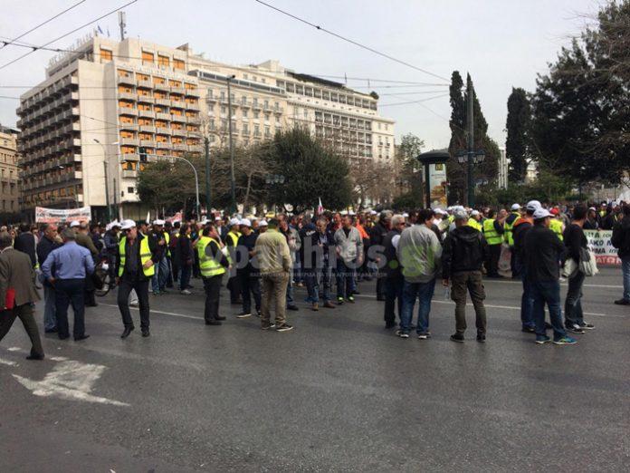 Διαμαρτυρία λιμενεργατών στην Αθήνα