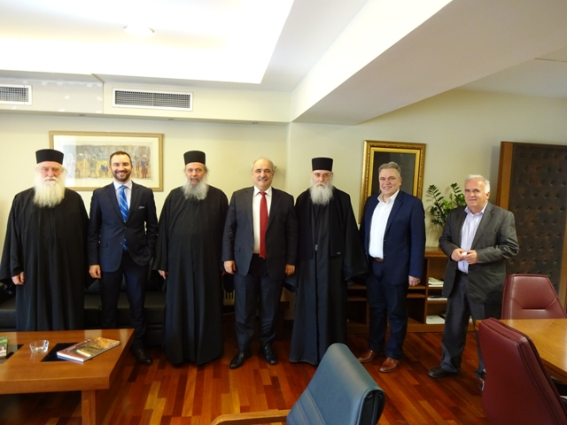Συνάντηση Μπόλαρη με επιτροπή ιεράς κοινότητας Αγίου Όρους