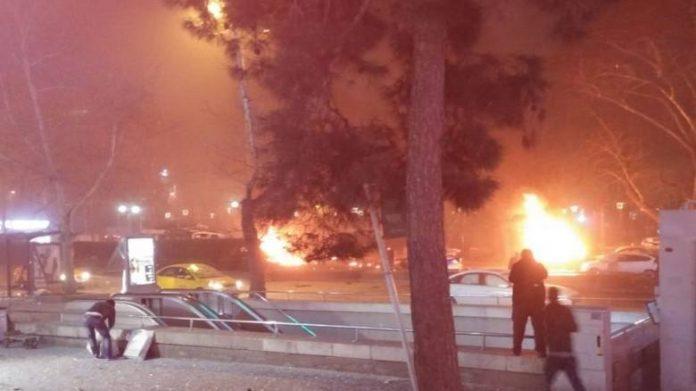 Ισχυρή έκρηξη στο κέντρο της Άγκυρας