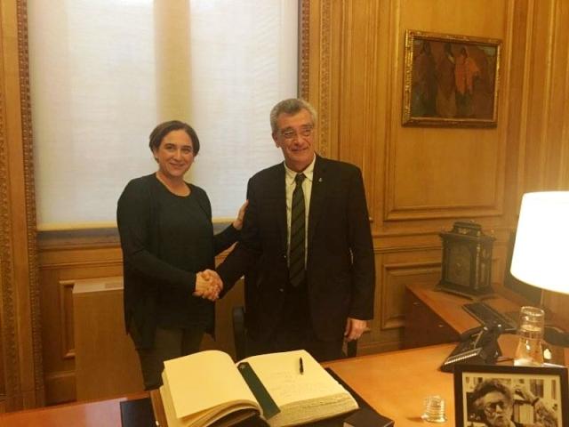 Σύμφωνο συνεργασίας μεταξύ των δήμων Λέσβου και Βαρκελώνης
