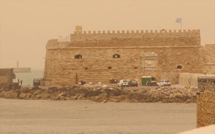 Ηράκλειο: Αυξημένα τα επίπεδα αφρικανικής σκόνης