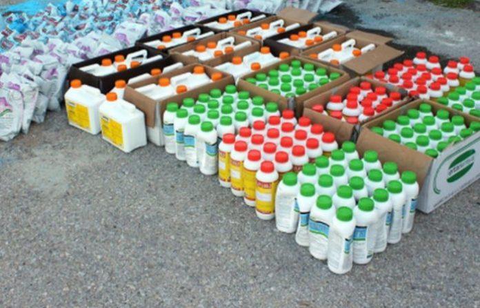 Αλεξ/πολη: Κατασχέθηκαν 400 λίτρα και 200 κιλά παράνομα φυτοφάρμακα