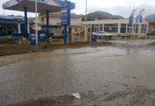 Πλημμυρικά φαινόμενα προκλήθηκαν στο Μεσολόγγι