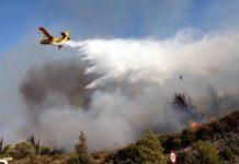 Ρόδος: Η πυρκαγιά έκαψε περίπου 15.000 - 20.000 στρ. δασικής και γεωργικής έκτασης