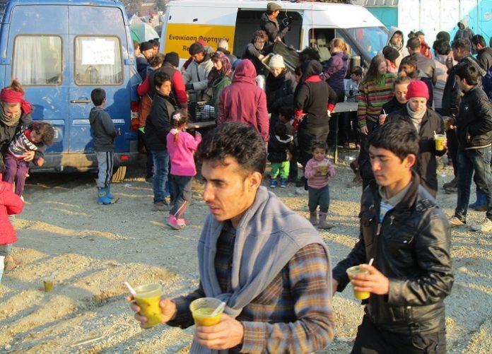 Θεσσαλονίκη:80 τόνοι τρόφιμα για τους πρόσφυγες από την Μπράγκα