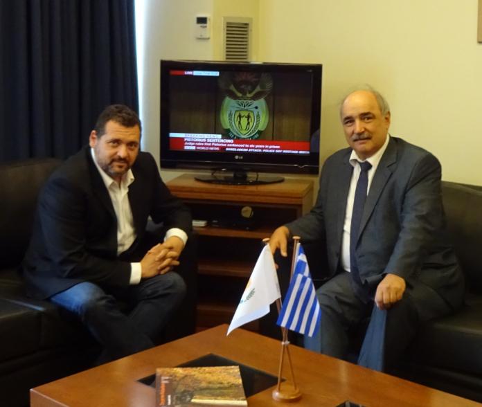 Συνάντηση Μπόλαρη με τον πρέσβη της Κυπριακής Δημοκρατίας