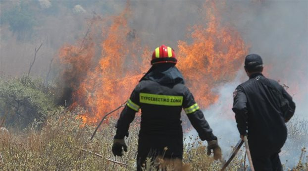 Ρέθυμνο: Σε εξέλιξη πυρκαγιά στην περιοχή Σαχτούρια