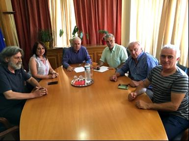 Συνάντηση Αποστόλου με τη διοίκηση του Αναγκαστικού Συνεταιρισμού Κρόκου Κοζάνης