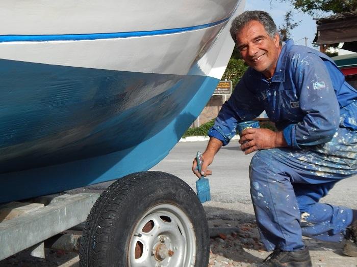 Κώστας Αντωνάκης, ψαράς στη Λέσβο