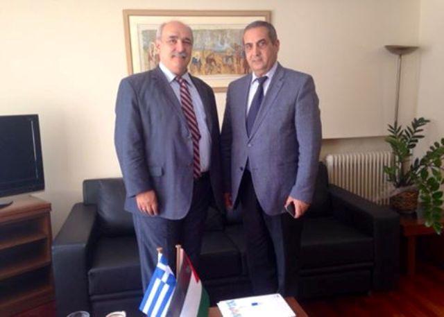 Η ενίσχυση των εξαγωγών στην Ιορδανία στο επίκεντρο της συνάντησης Μπόλαρη με Ιορδανό πρέσβη