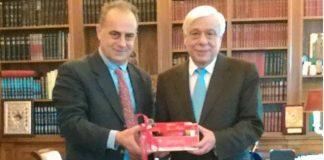 Τον ΠτΔ επισκέφτηκε ο πρόεδρος της ΑΛΦΕΙΟΣ ΡΟΔΙ Α.Ε.