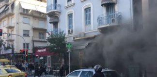 Ισχυρή έκρηξη σε ταχυφαγείο στην πλατεία Βικτωρίας