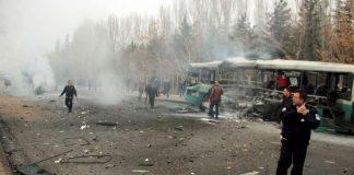 Τουλάχιστον 13 νεκροί από έκρηξη σε λεωφορείο με στρατιώτες στην Καισάρεια