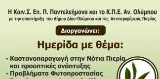 Ημερίδα για την καστανοπαραγωγή στη Νότια Πιερία
