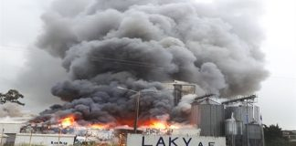 Στις φλόγες το εργοστάσιο της αλλαντοβιομηχανίας ΒΙΚΗ