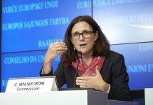 Στις ΗΠΑ η Malmström για την αναθέρμανση της TTIP