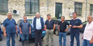 Επίσκεψη του Ν. Παπαδόπουλου στις πληγείσες από το χαλάζι περιοχές του Δήμου Τεμπών