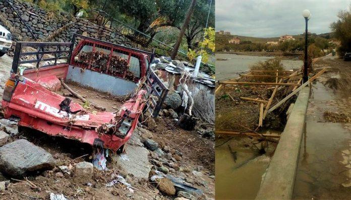 Έντονες βροχοπτώσεις δημιούργησαν ζημιές στο αγροτικό οδικό δίκτυο Μυτιλήνης