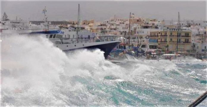 Σε Λασίθι και Νάξο οι θυελλώδεις άνεμοι έφτασαν τα 132 χιλ/ώρα