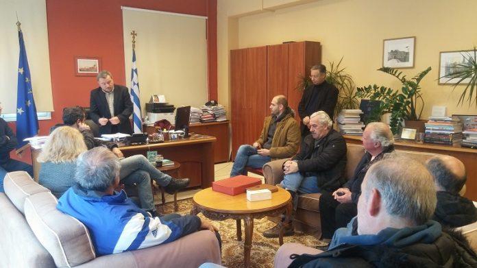 Συνάντηση Γαλιατσάτου με εκπροσώπους της Ομοσπονδίας Αγροτικών Συλλόγων Κέρκυρας