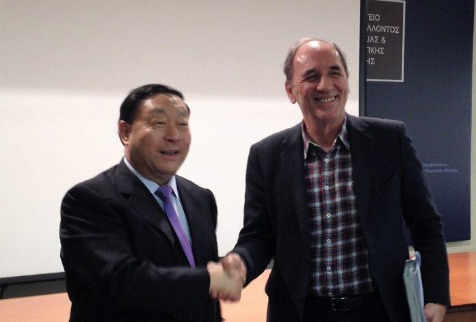 Συνάντηση Σταθάκη-Μανουσάκη με τον πρόεδρο του GEIDCO, στο ΥΠΕΝ