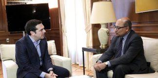 Συνάντηση Τσίπρα με τον πρόεδρο της Τράπεζας Ανασυγκρότησης και Ανάπτυξης