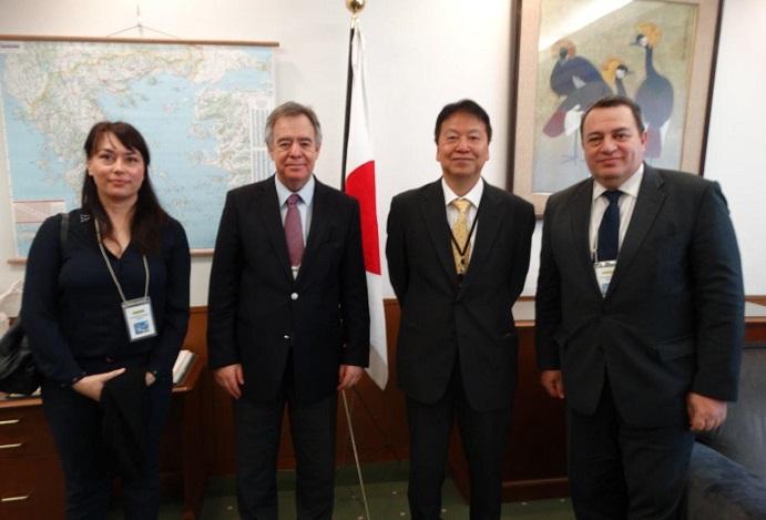 Συνάντηση με τον πρέσβη της Ιαπωνίας είχαν οι πρώην υπουργοί Κοντός και Στυλιανίδης