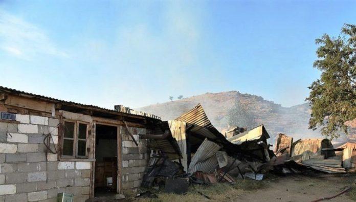 Τρίκαλα: Στις φλόγες ποιμνιοστάσιο στο Γριζάνο Φαρκαδόνας