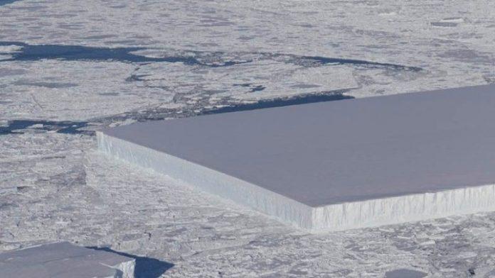 Γεωμετρικό παγόβουνο σαν γιγάντιο παγάκι φωτογράφησε η NASA