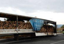 Φωτιά σε νταλίκα γεμάτη ξύλα στις Σέρρες
