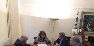 Συνάντηση με την Πανελλήνια Ένωση Πτηνοτρόφων Παραγωγών είχε η Ο. Τελιγιορίδου