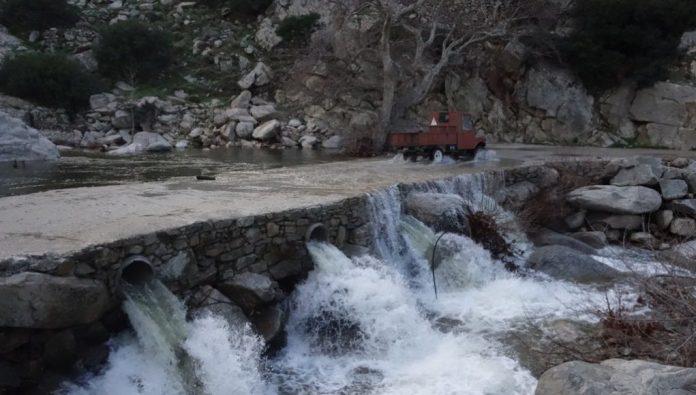 Ικαρία: Άκρως επικίνδυνη η διέλευση από το Γεφύρι του Χάλαρη