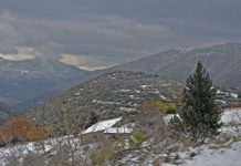 Καλαμπάκα: Χιονίζει σε χωριά της περιοχής Ασπροποτάμου