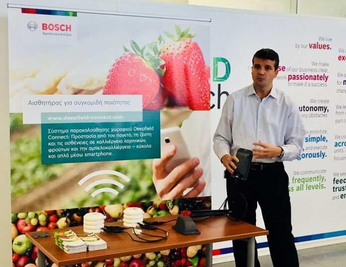 BOSCH: Αισθητήρες δίνουν πληροφορίες στον παραγωγό για θερμοκρασία και υγρασία στην καλλιέργεια