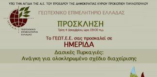 Hμερίδα ΓΕΩ.Τ.Ε.Ε στην Αθήνα για τις δασικές πυρκαγιές