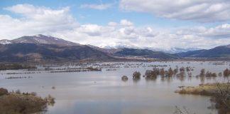 Σε τεράστια λίμνη μετατράπηκαν 6.000 στρ. αγρών και αγροτικών δρόμων στο Κάτω Νευροκόπι