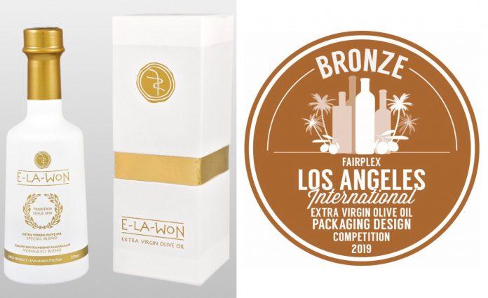 Την 3η θέση καλύτερης συσκευασίας κατέλαβε η E-LA-WON σε Διεθνή Διαγωνισμό Ελαιολάδου