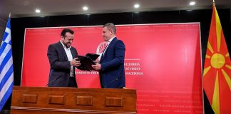 To έργο της ψηφιακής γεωργίας παρουσίασε στον ομόλογό του Ν. Μαντσέφσκι ο υπουργός ΨΗΠΤΕ Ν. Παππάς στα Σκόπια