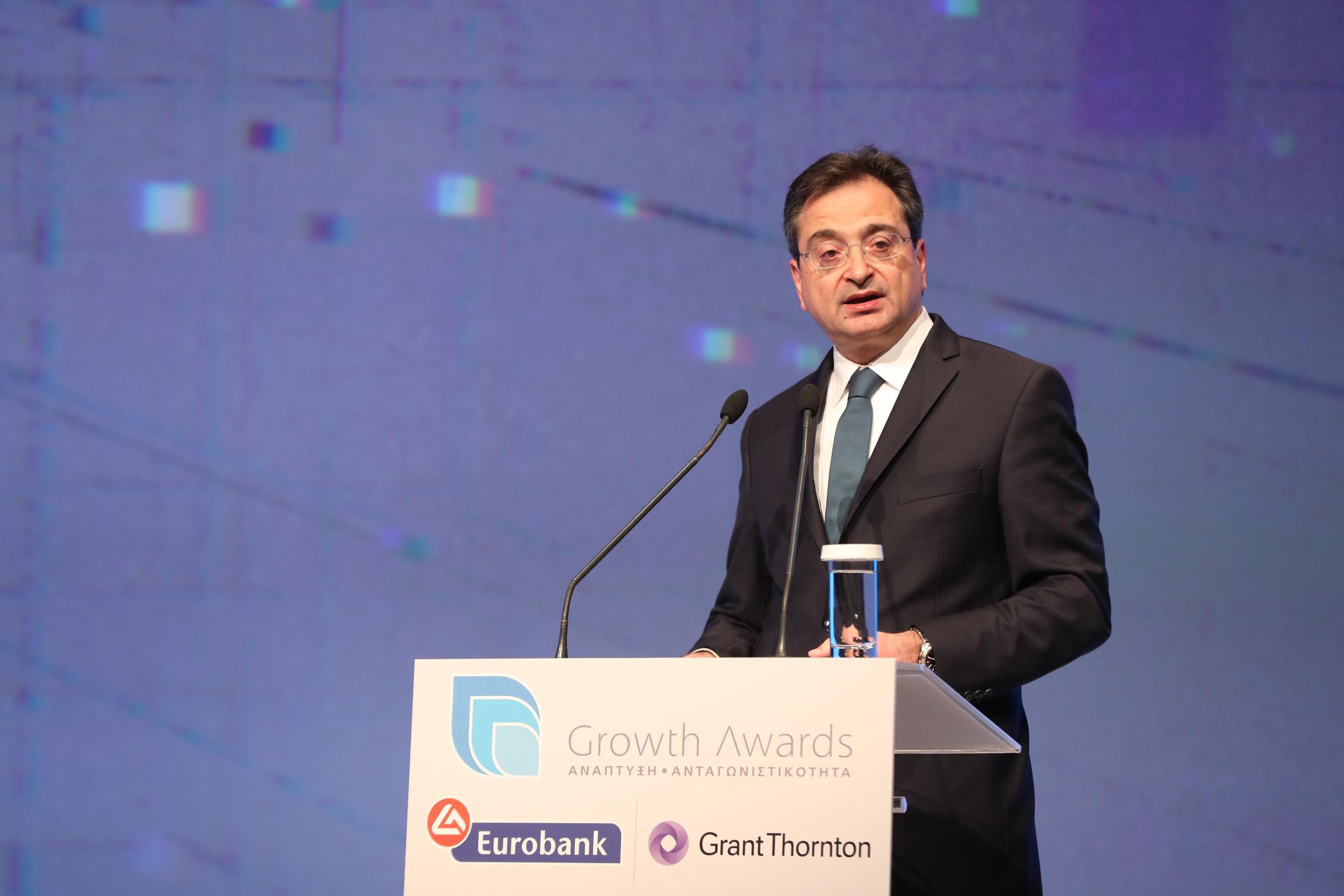 Ο Διευθύνων Σύμβουλος της Eurobank κ. Φωκίων Καραβίας στο βήμα της εκδήλωσης