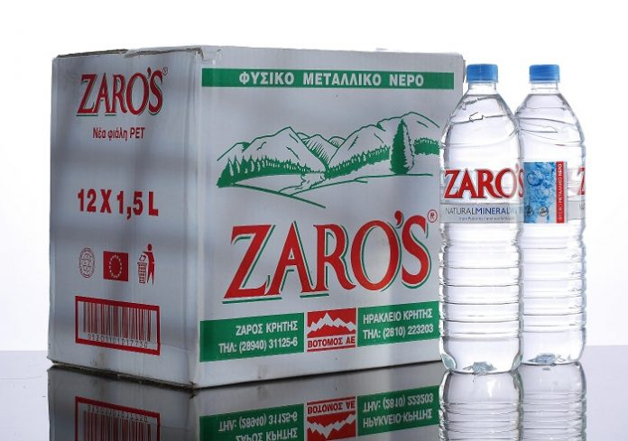 Ενίσχυση μεριδίου στην εσωτερική αγορά και αύξηση εξαγωγών για το φυσικό μεταλλικό νερό ZARO'S