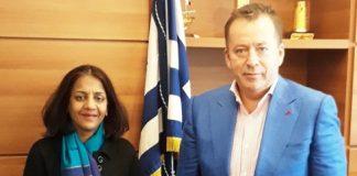 Η αγροτική παραγωγή Ελλάδας-Ινδίας στο επίκεντρο συνάντησης Κόκκαλη με την πρέσβη της Ινδίας