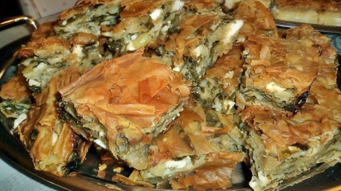 Παραδοσιακή λαχανόπιτα 3τ.μ. στην «Γιορτή Πίτας» του Δήμου Ζίτσας Ιωαννίνων