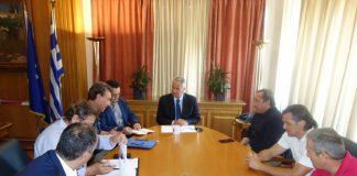 Συνάντηση κ. Βορίδη με εκπροσώπους της Νέας Ομοσπονδίας Χοιροτροφικών Συλλόγων Ελλάδος