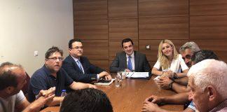Συνάντηση Φ. Αραμπατζή και Κ. Σκρέκα με εκπροσώπους τευτλοκαλλιεργητών