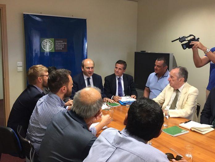 Συνάντηση γνωριμίας Κωστή Χατζηδάκη με περιβαλλοντικές οργανώσεις