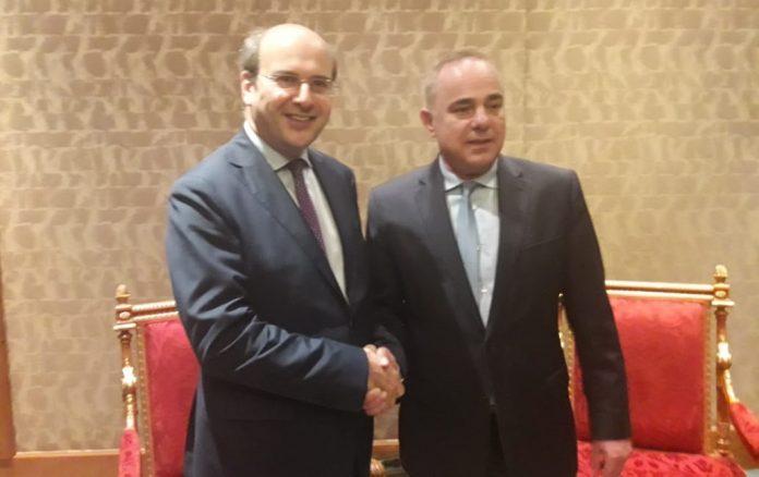 Συνάντηση Κ. Χατζηδάκη με τον υπουργό Υποδομών, Ενέργειας και Υδάτων του Ισραήλ